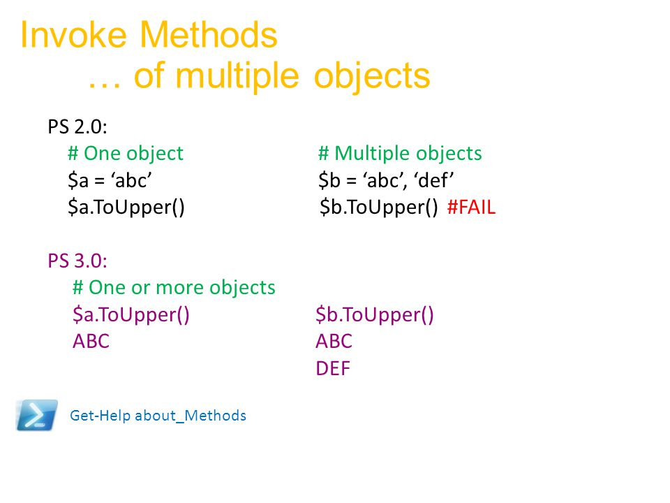 Invoke Methods … of multiple objects