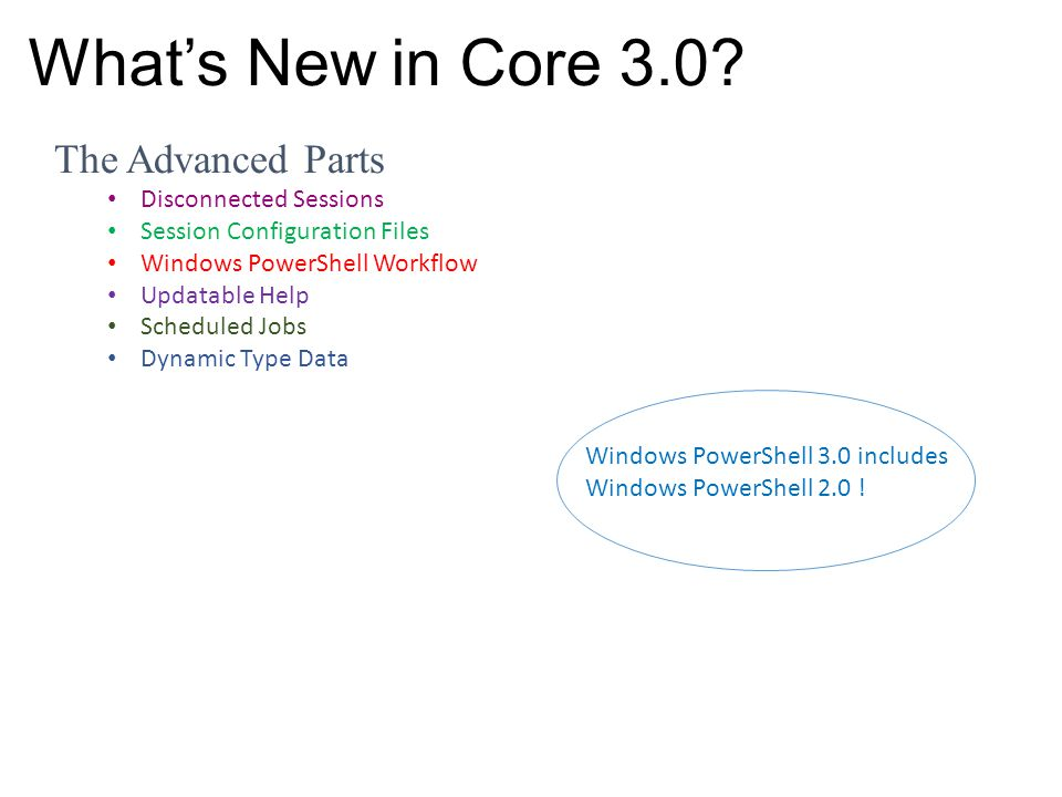 What's New in Core 3.0 The Advanced Parts Disconnected Sessions