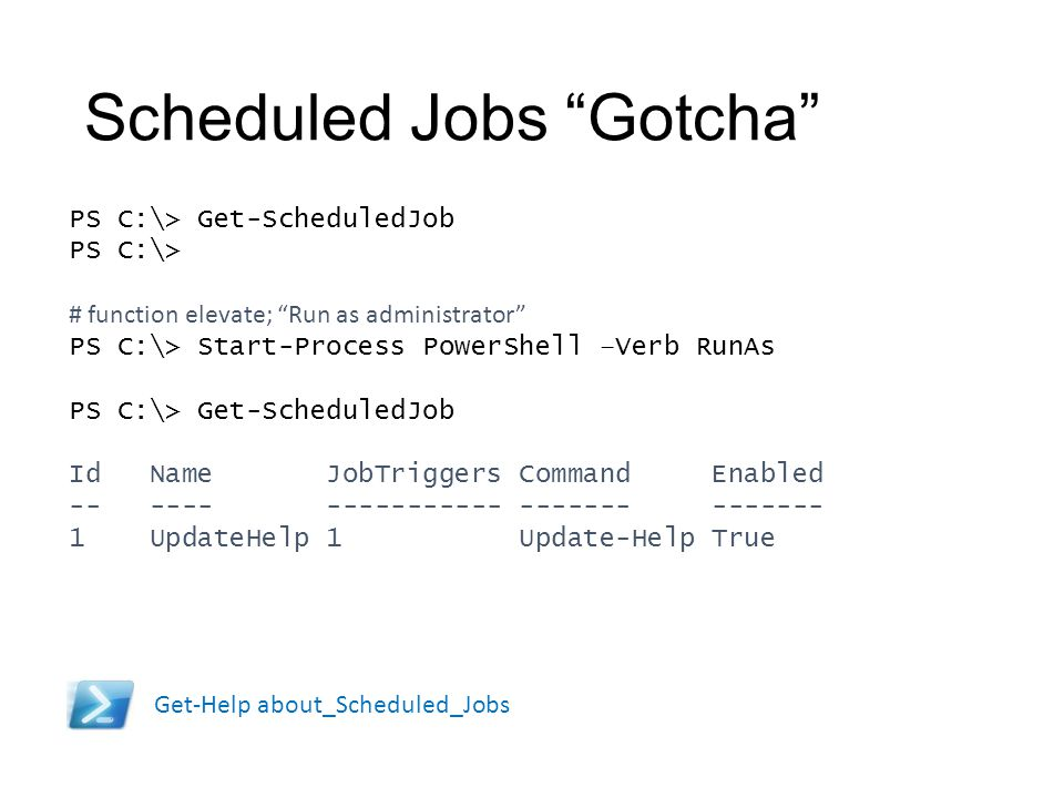 Scheduled Jobs Gotcha
