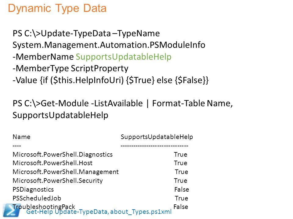 Dynamic Type Data
