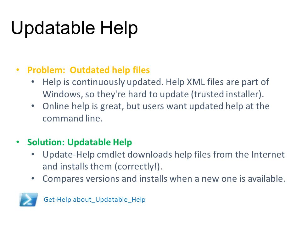Updatable Help Problem: Outdated help files