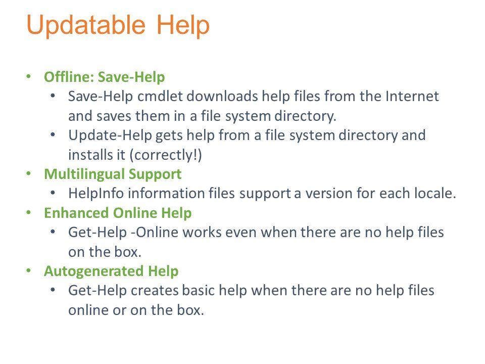 Updatable Help Offline: Save-Help