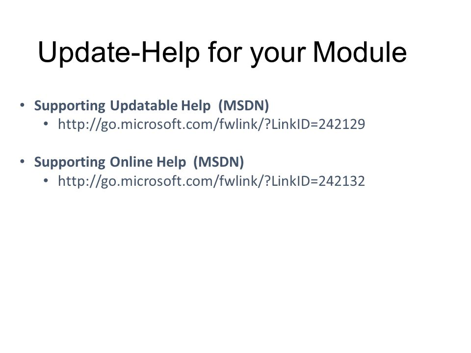 Update-Help for your Module
