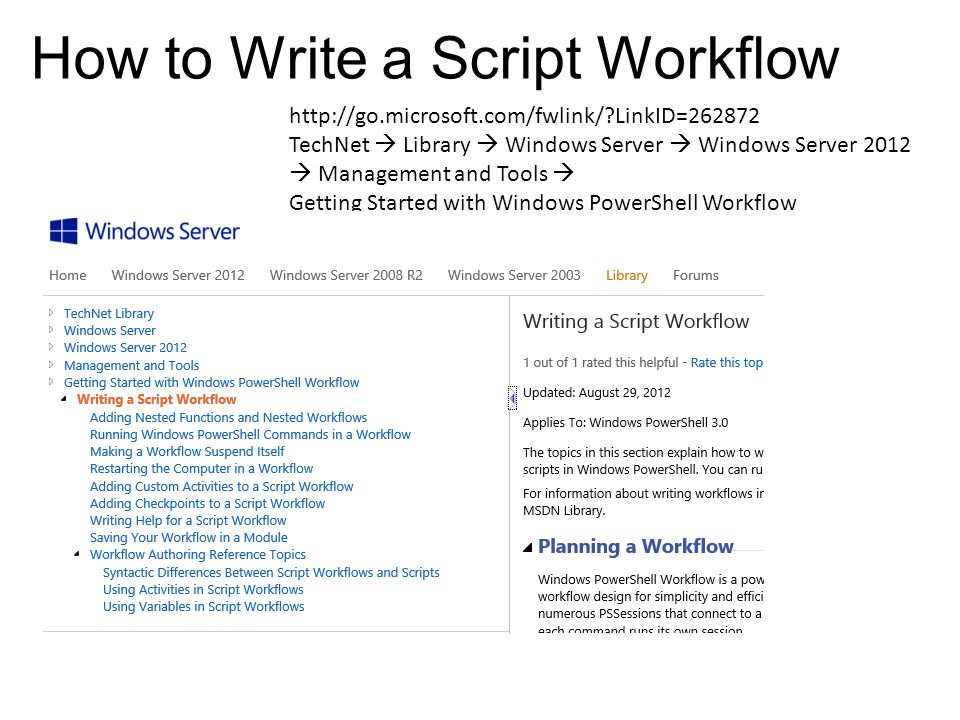 How to Write a Script Workflow