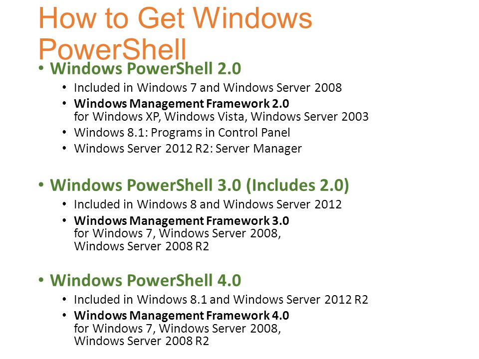 How to Get Windows PowerShell