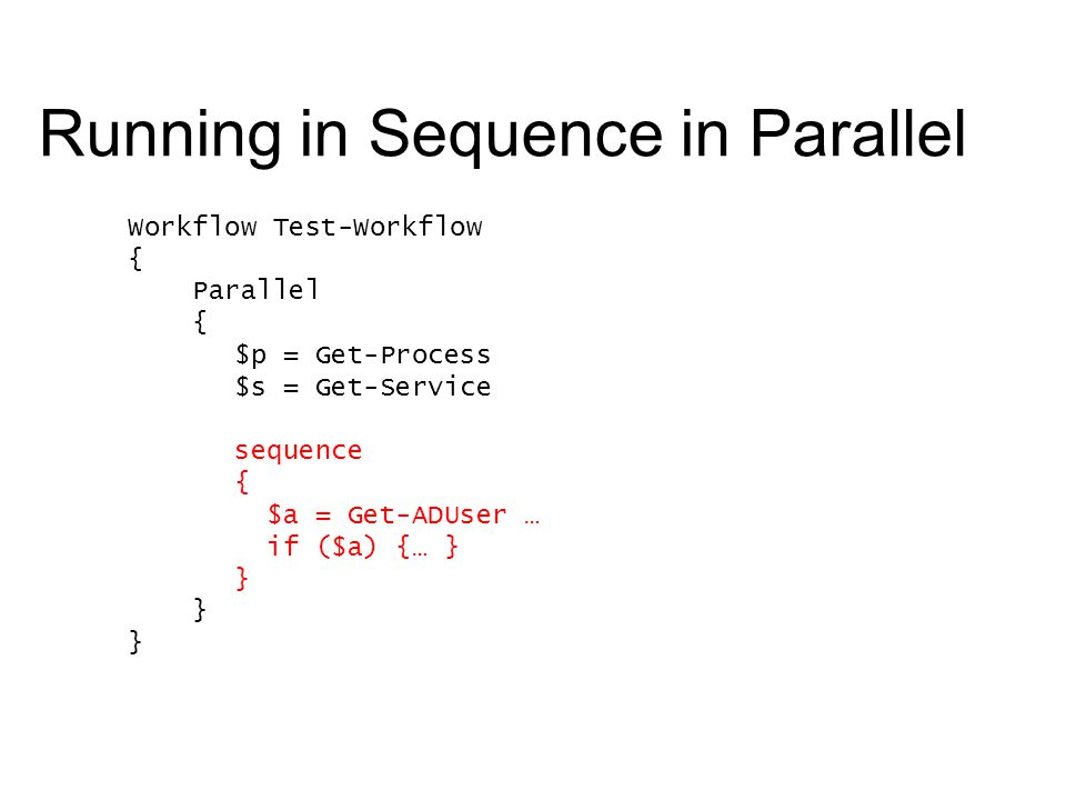 Running in Sequence in Parallel