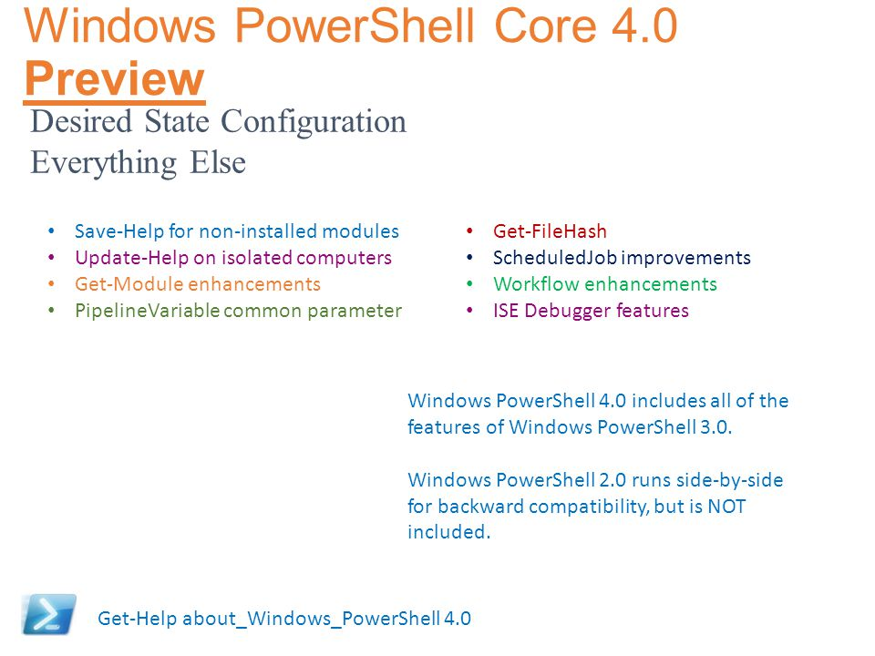 Windows PowerShell Core 4.0 Preview