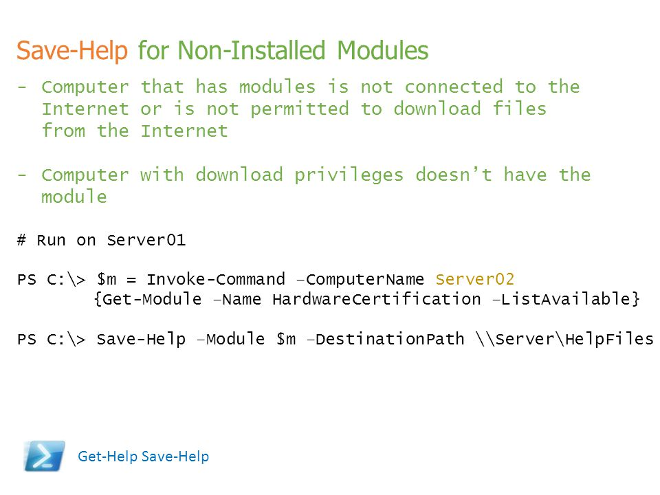 Save-Help for Non-Installed Modules