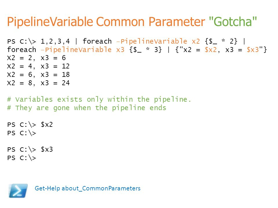 PipelineVariable Common Parameter Gotcha