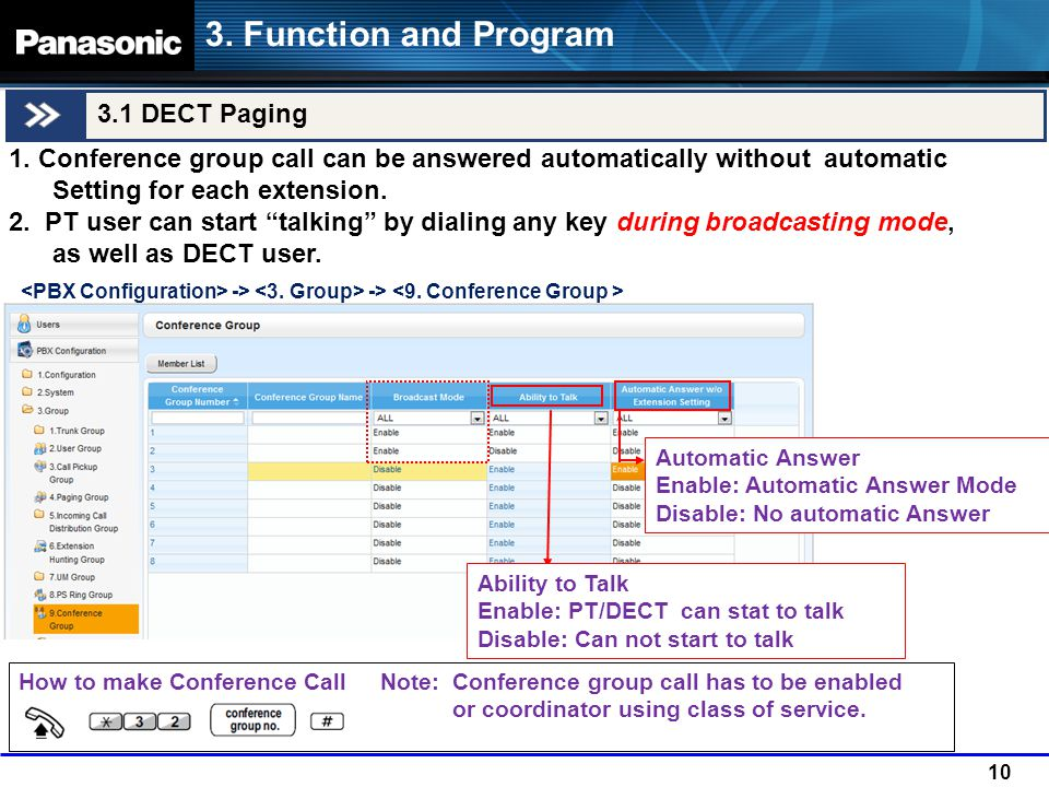 3. Function and Program 3.1 DECT Paging