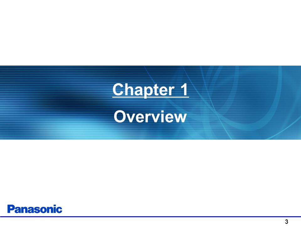 Chapter 1 Overview 3