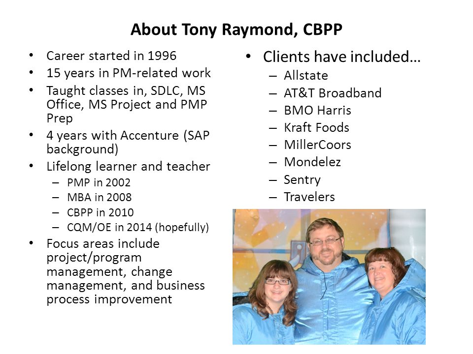 About Tony Raymond, CBPP
