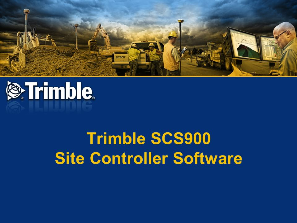 Trimble SCS900 Site Controller Software