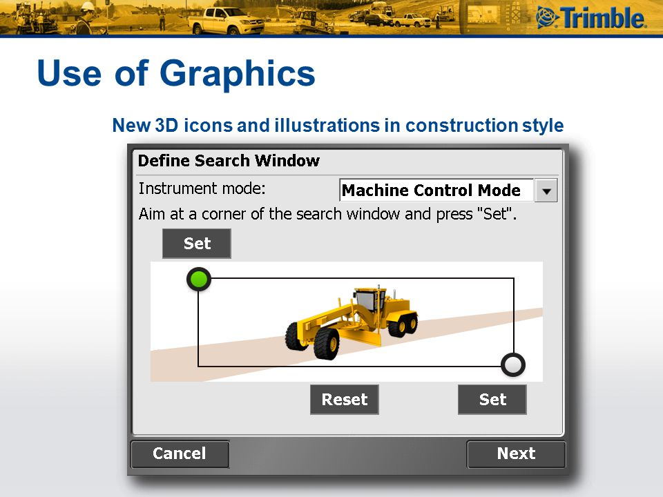 Use of Graphics New 3D icons and illustrations in construction style