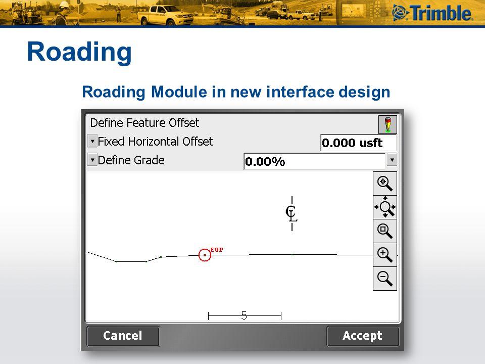 Roading Roading Module in new interface design