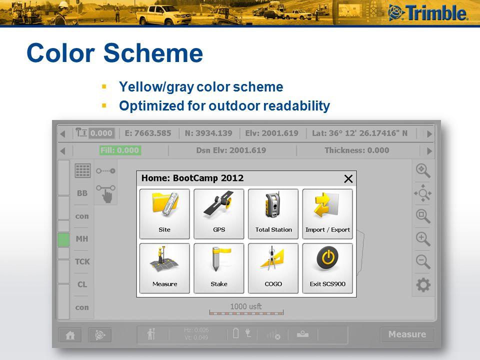 Color Scheme Yellow/gray color scheme