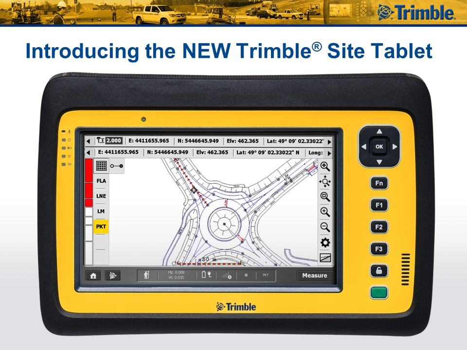 Introducing the NEW Trimble® Site Tablet