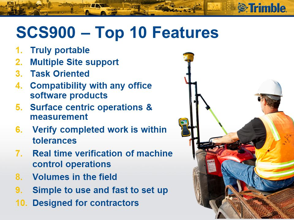 SCS900 – Top 10 Features Truly portable Multiple Site support