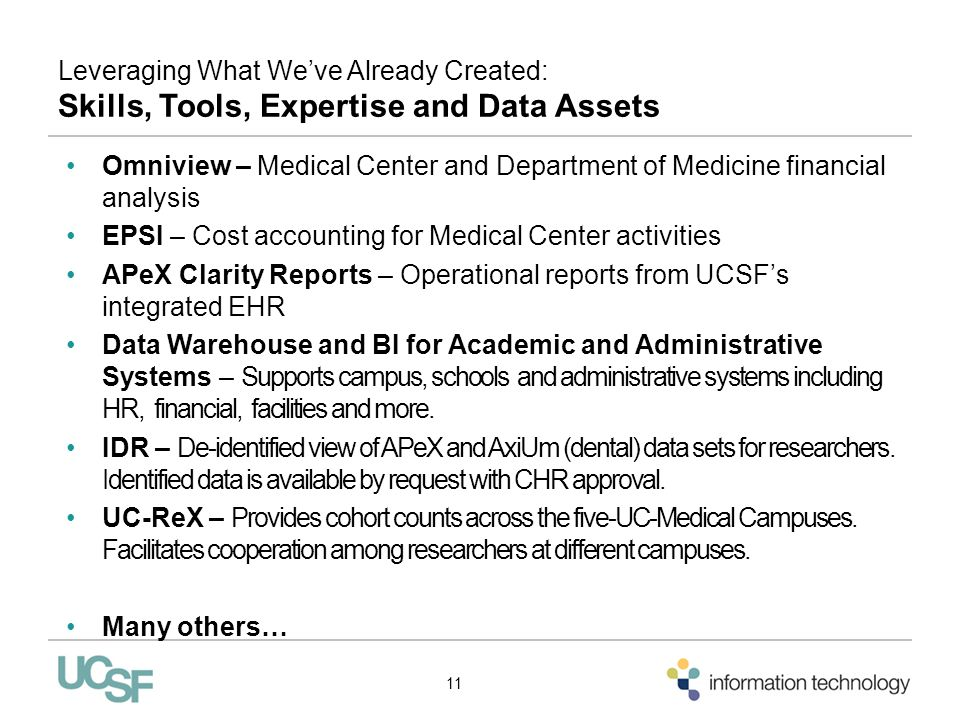 EPSI – Cost accounting for Medical Center activities