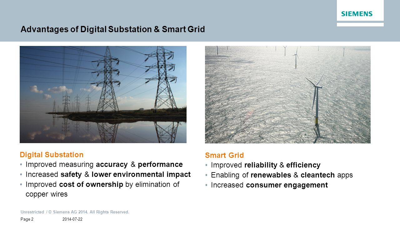 Advantages of Digital Substation & Smart Grid