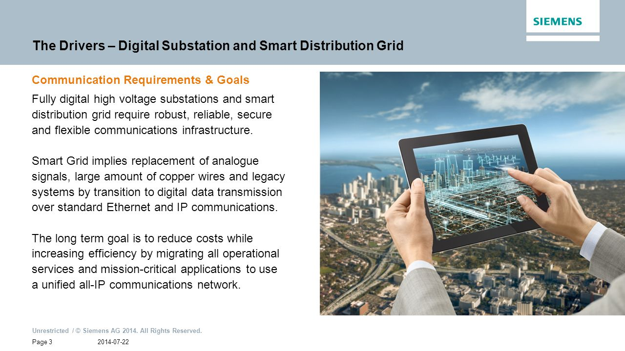 The Drivers – Digital Substation and Smart Distribution Grid