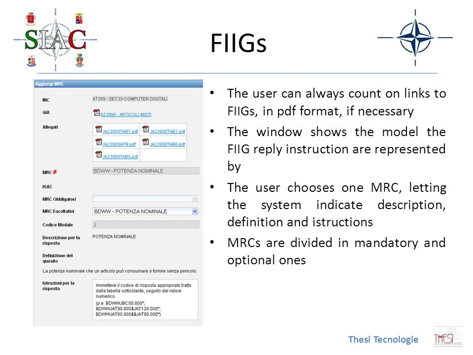 FIIGs The user can always count on links to FIIGs, in pdf format, if necessary.