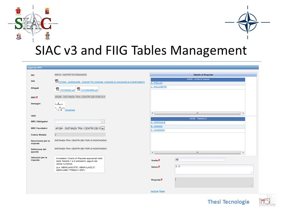 SIAC v3 and FIIG Tables Management