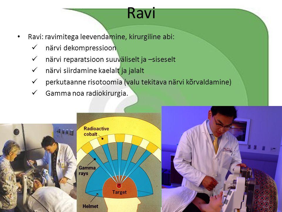 Ravi Ravi: ravimitega leevendamine, kirurgiline abi: