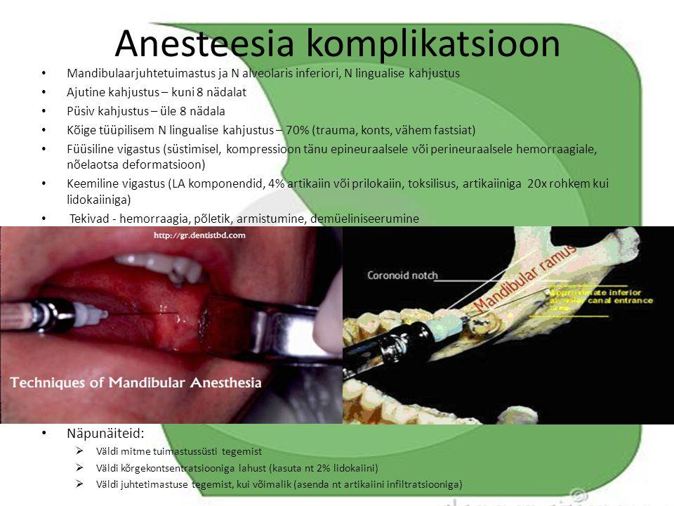 Anesteesia komplikatsioon