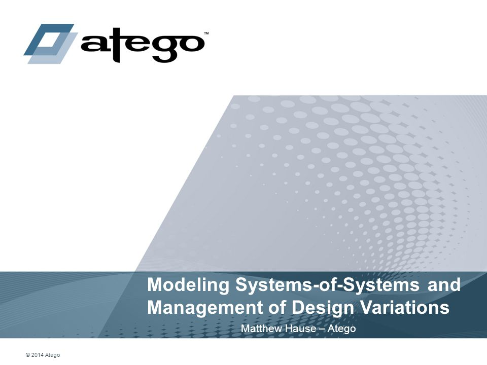 Modeling Systems-of-Systems and Management of Design Variations