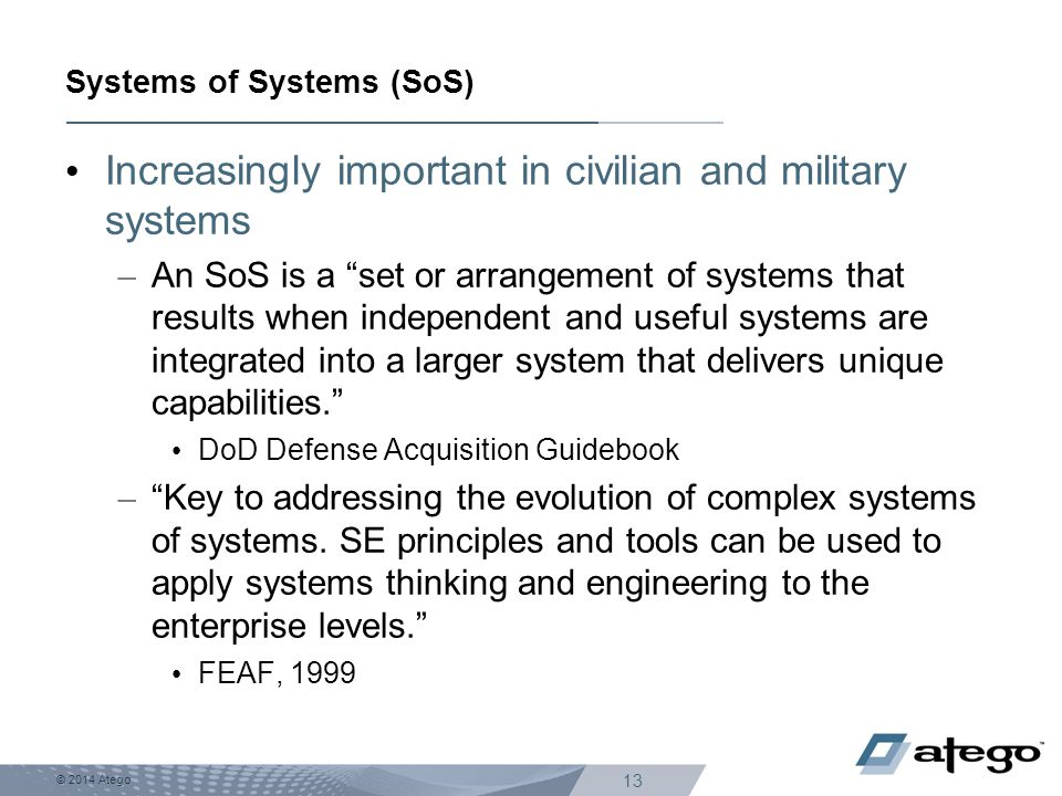 Systems of Systems (SoS)