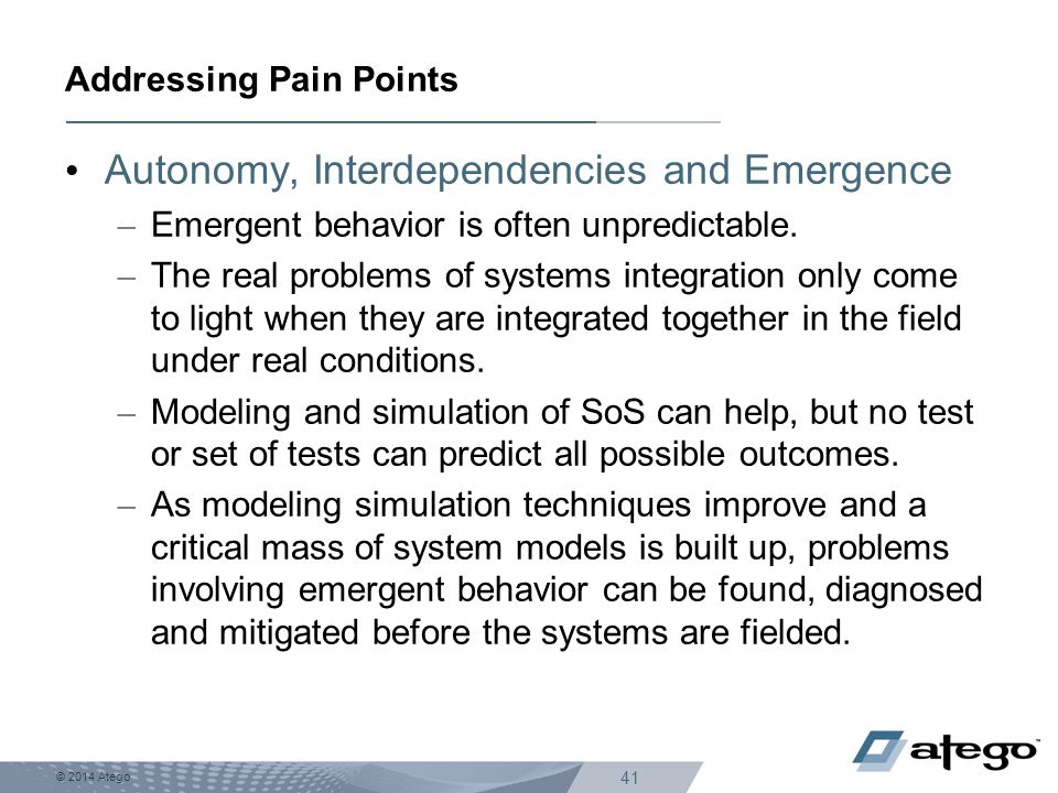 Addressing Pain Points