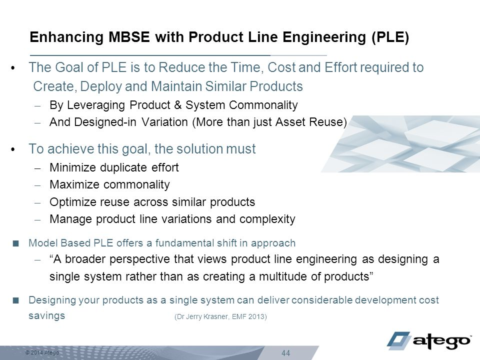 Enhancing MBSE with Product Line Engineering (PLE)