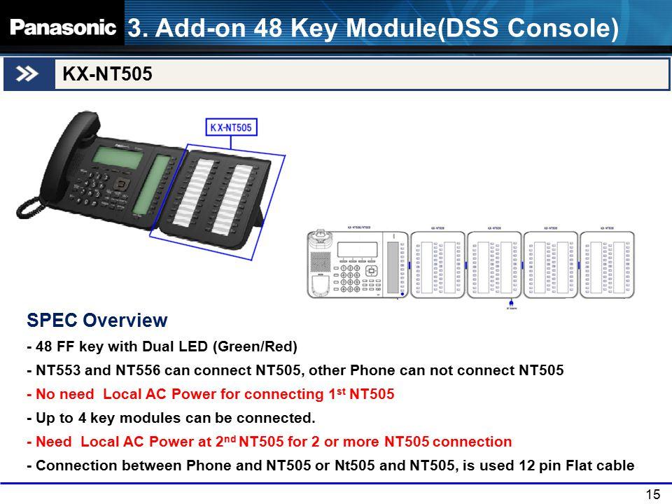 3. Add-on 48 Key Module(DSS Console)