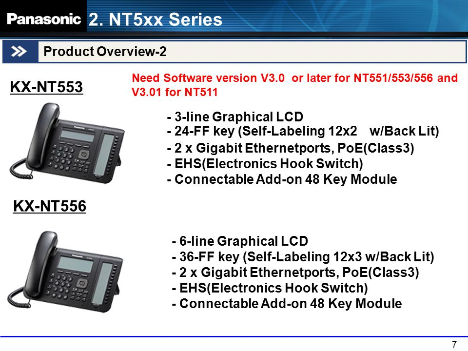 2. NT5xx Series KX-NT553 KX-NT556 Product Overview-2