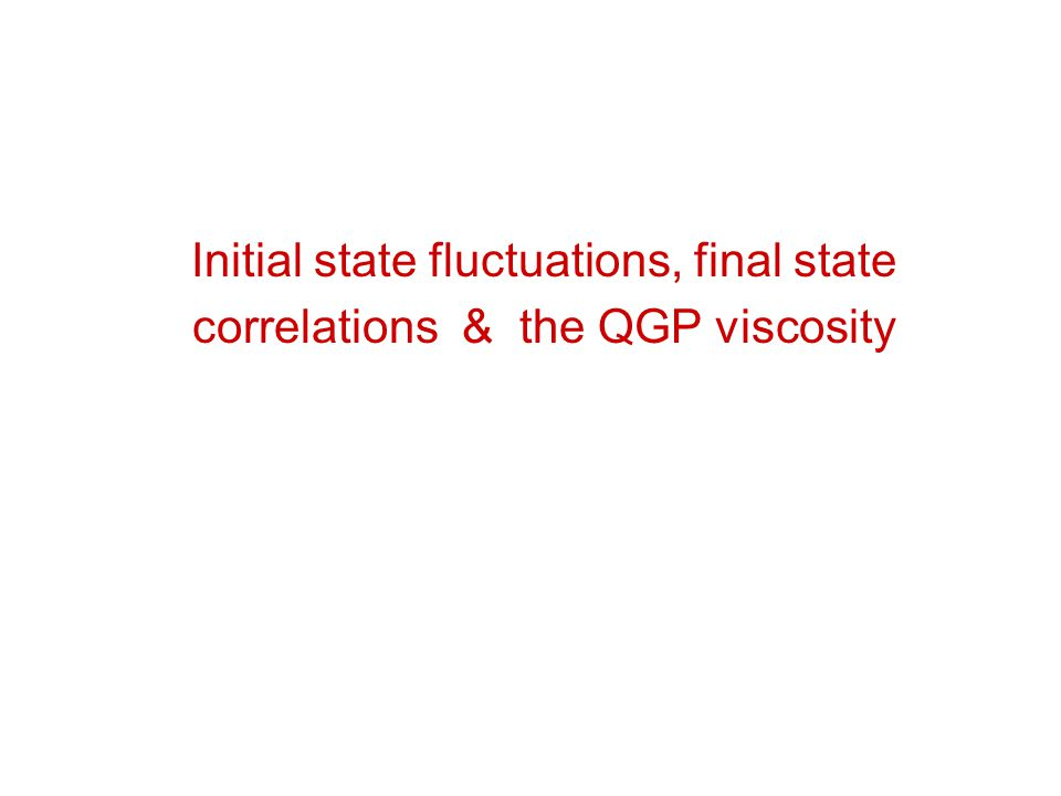 Initial state fluctuations, final state correlations & the QGP viscosity