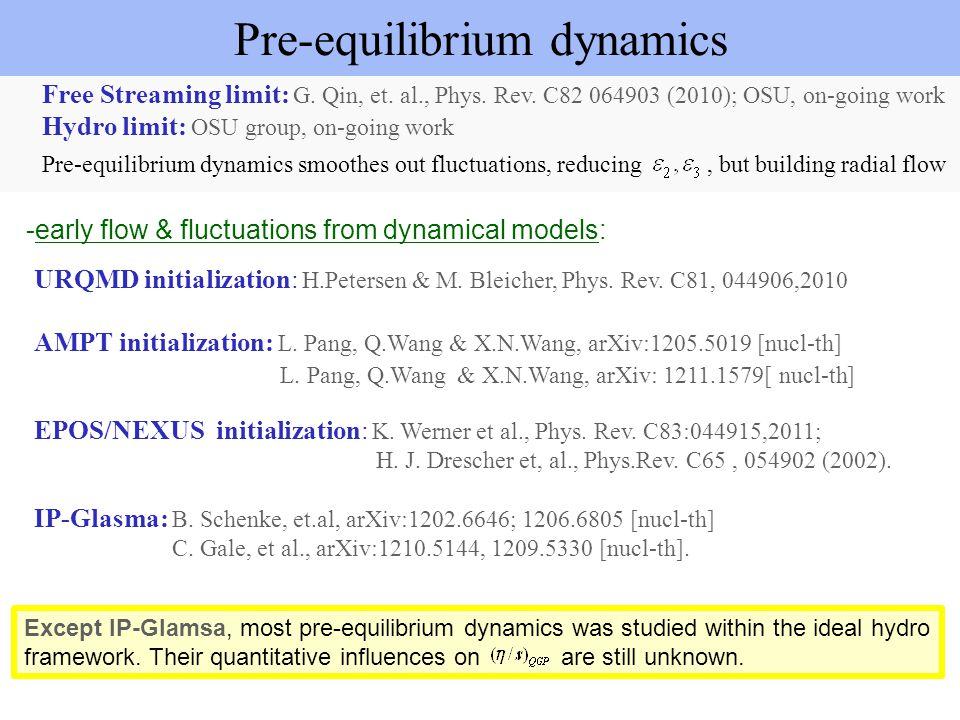 Pre-equilibrium dynamics