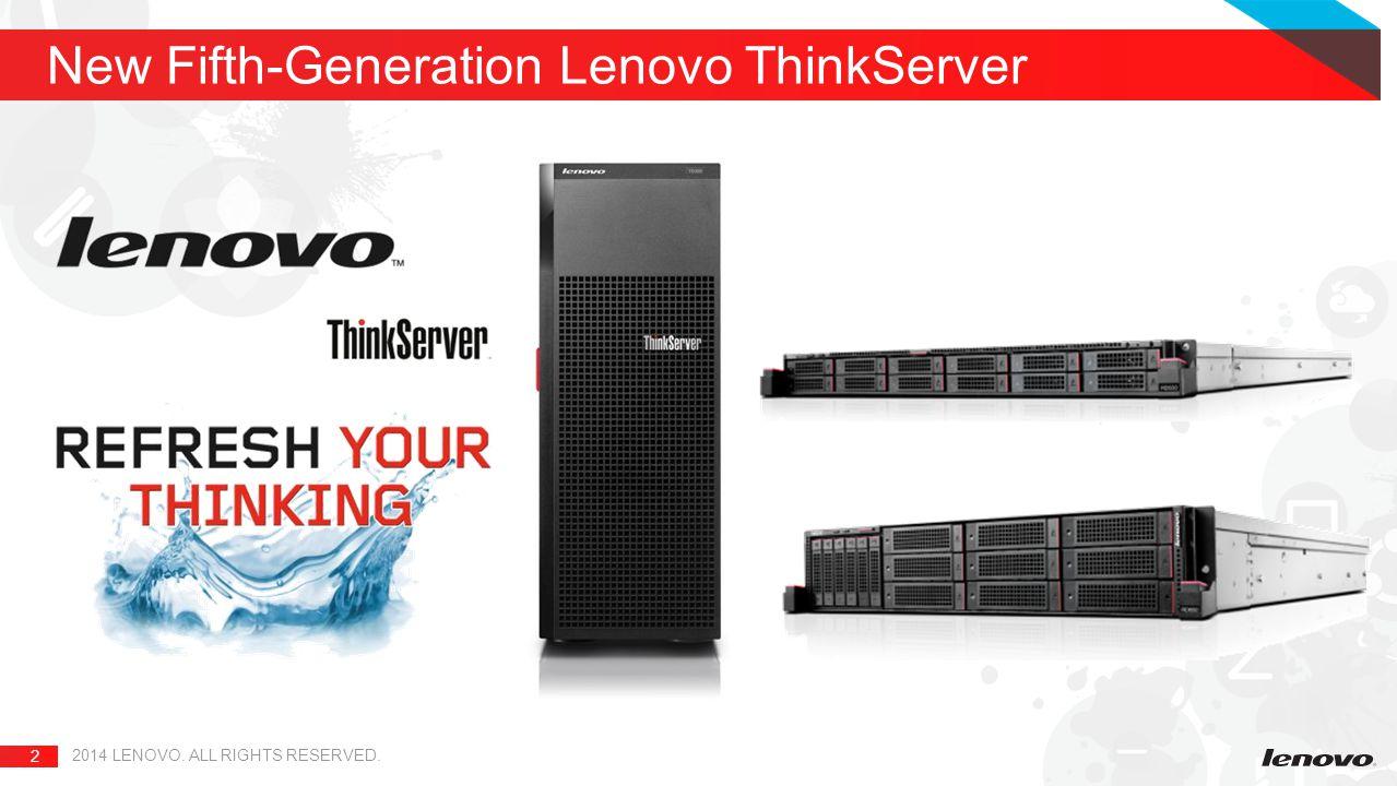 New Fifth-Generation Lenovo ThinkServer