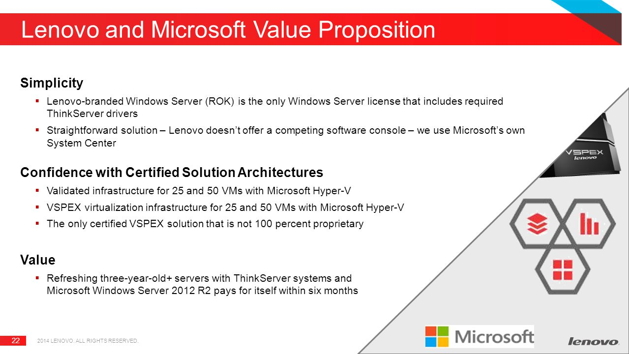 Lenovo and Microsoft Value Proposition