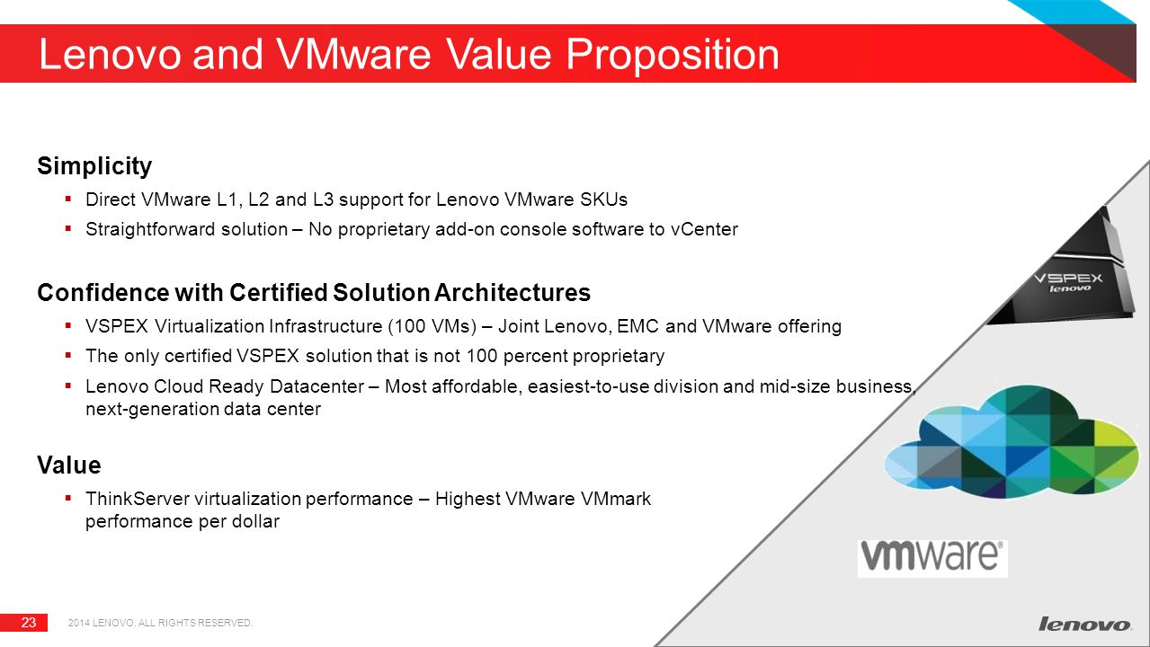 Lenovo and VMware Value Proposition