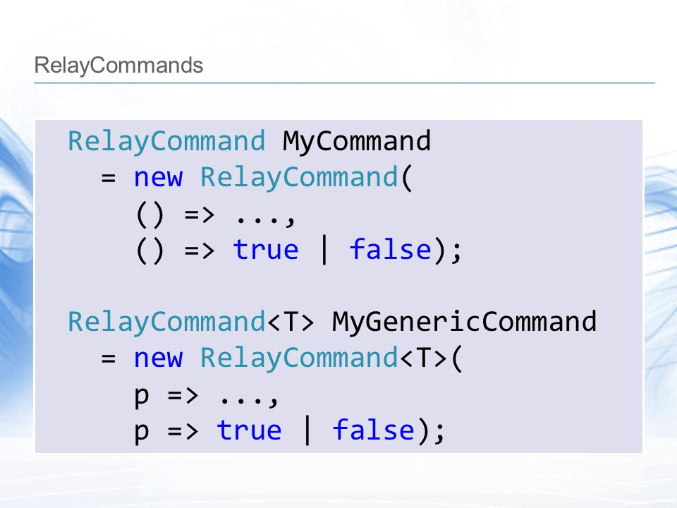 RelayCommands
