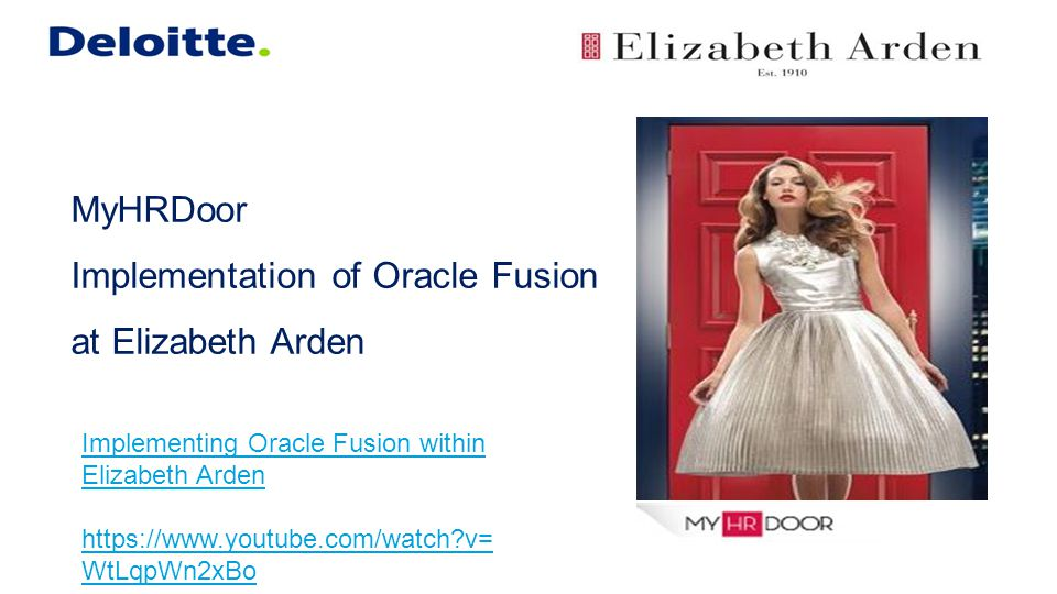 MyHRDoor Implementation of Oracle Fusion at Elizabeth Arden
