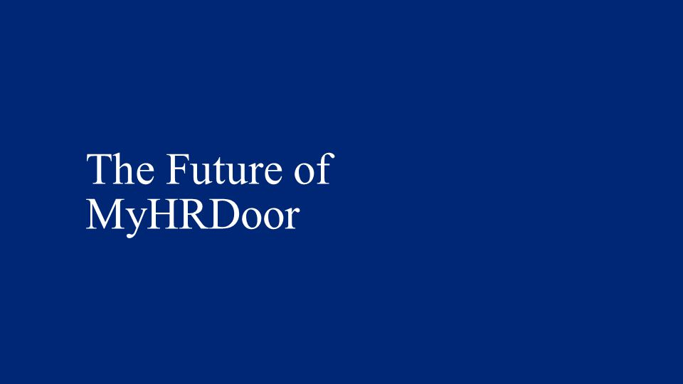 The Future of MyHRDoor Tim
