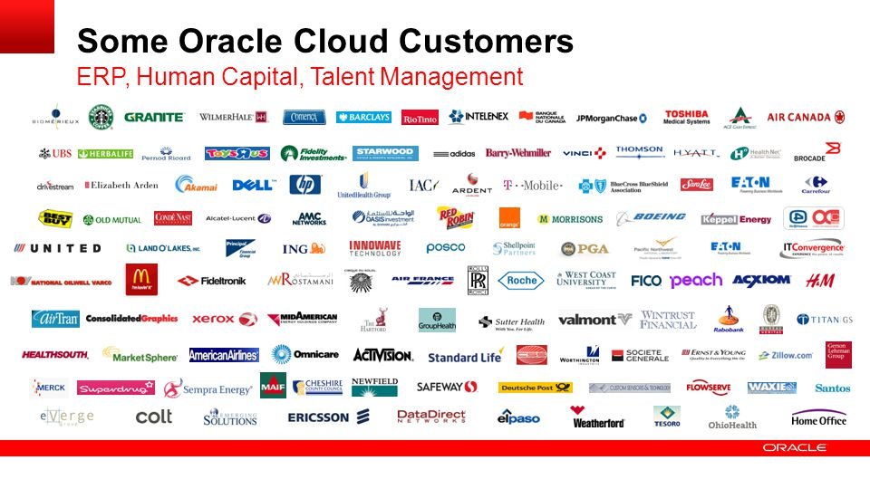 Some Oracle Cloud Customers