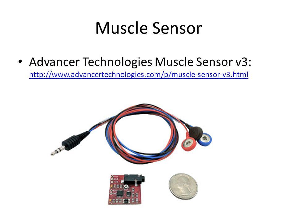 Muscle Sensor Advancer Technologies Muscle Sensor v3: http://www.advancertechnologies.com/p/muscle-sensor-v3.html.