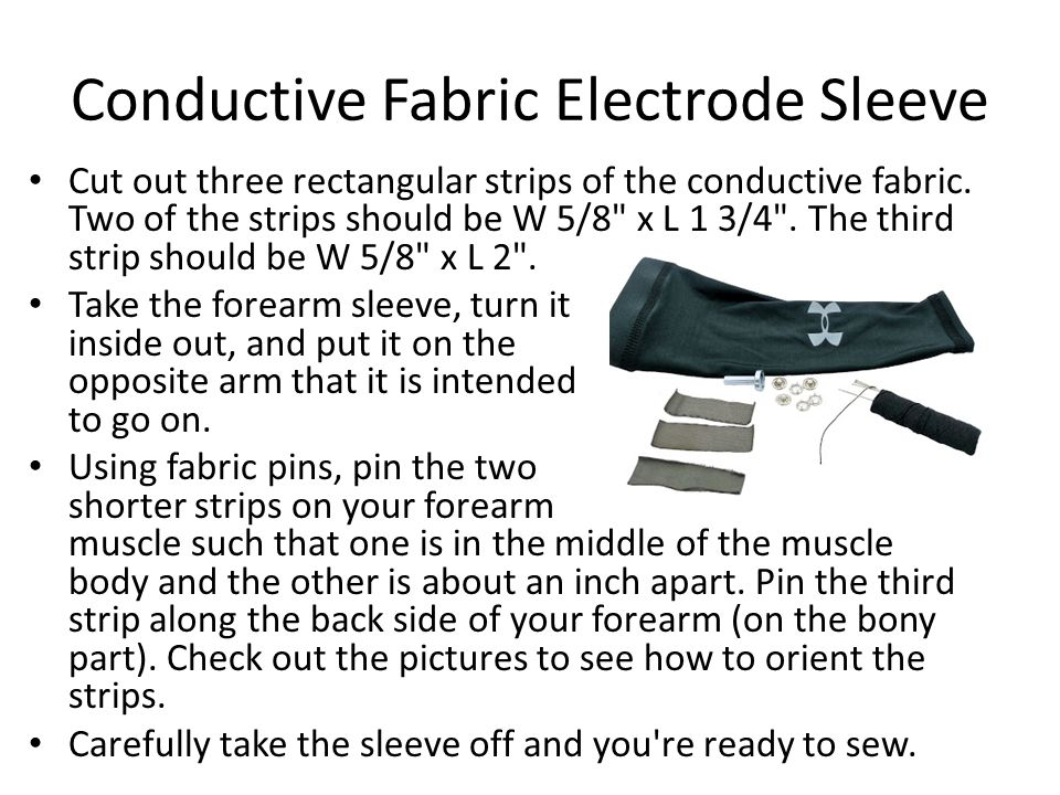 Conductive Fabric Electrode Sleeve
