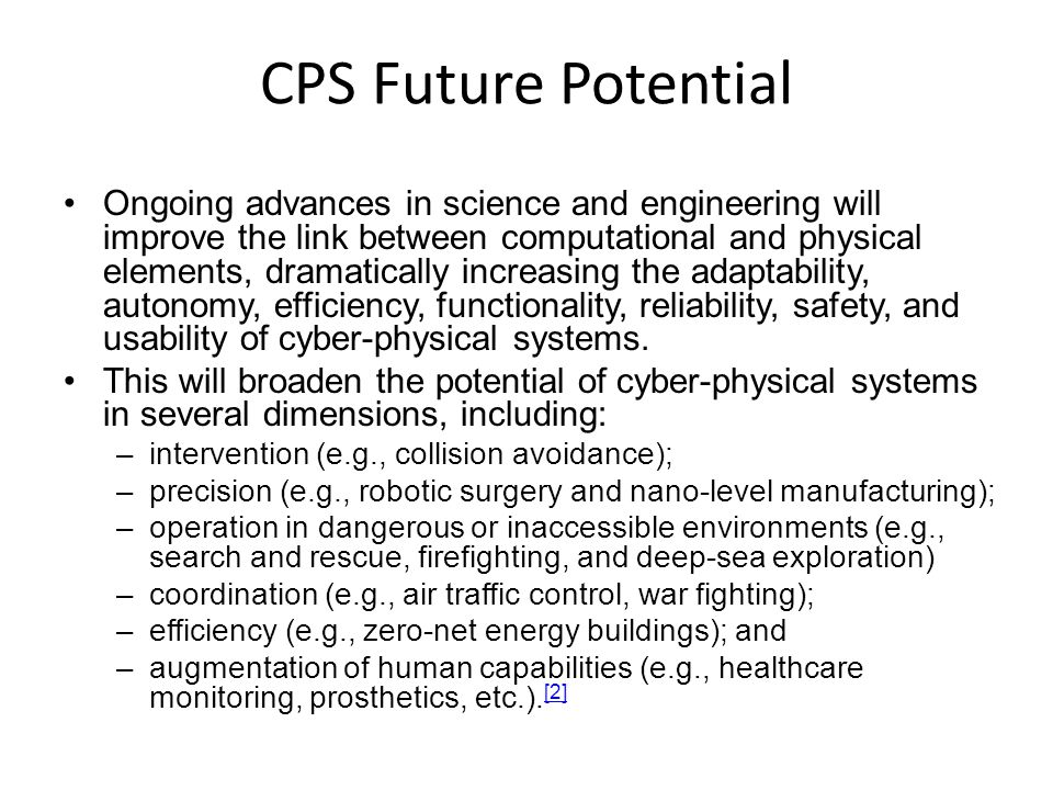 CPS Future Potential