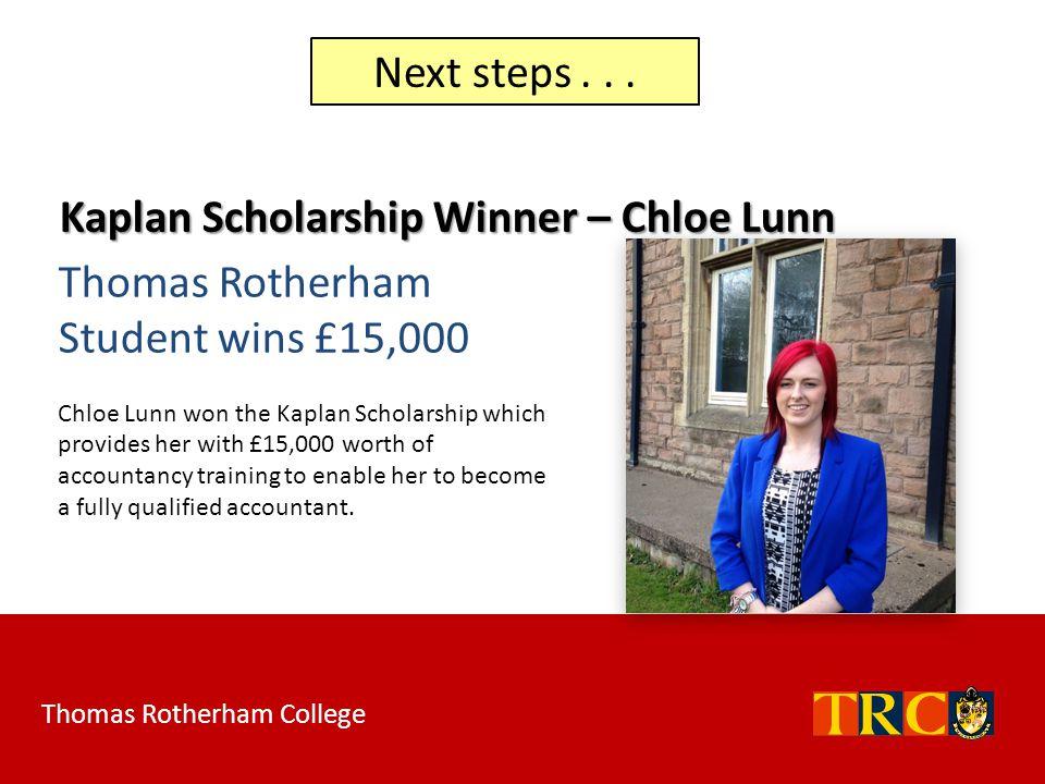 Kaplan Scholarship Winner – Chloe Lunn