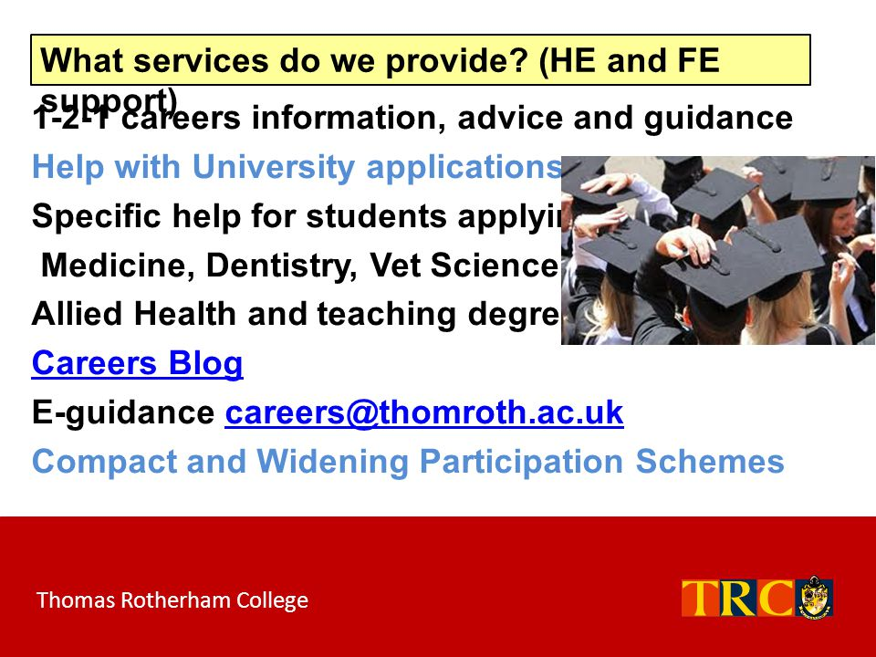 What services do we provide (HE and FE support)