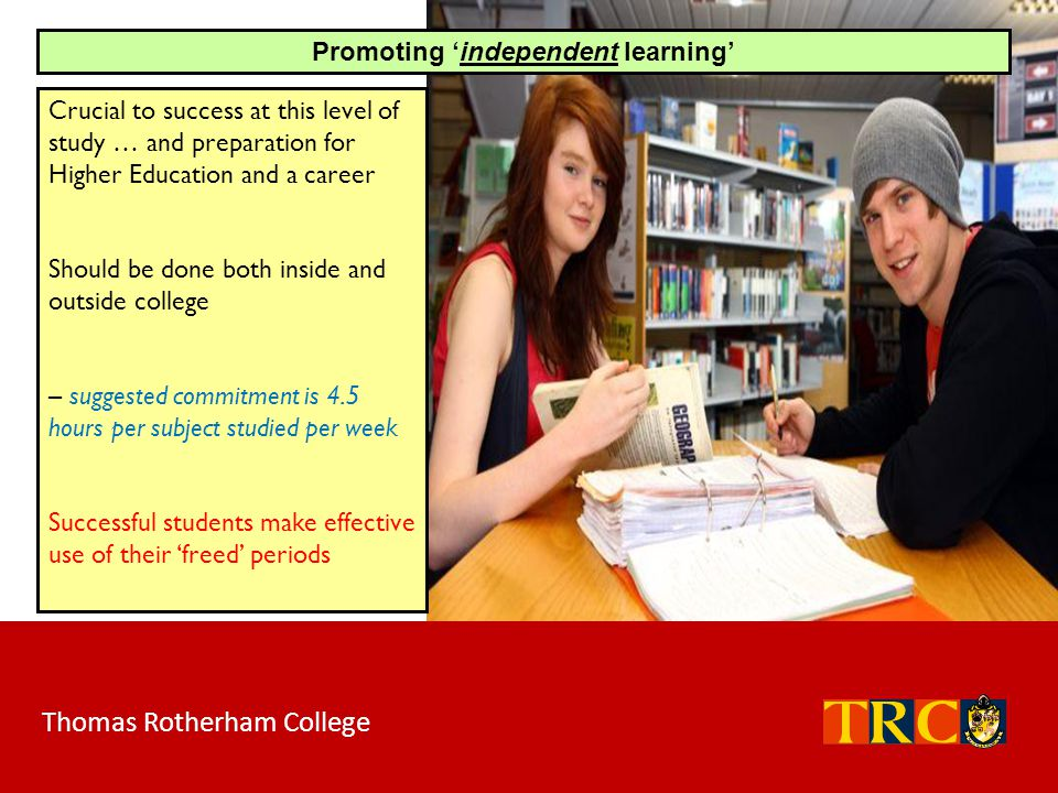 Promoting 'independent learning'